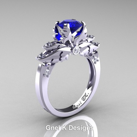 Classic-950-Platinum-1-Ct-Blue-Sapphire-Diamond-Solitaire-Engagement-RIng-R482-PLATDBS-P