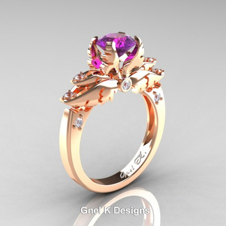 Classic-Angel-14K-Rose-Gold-1-Ct-Amethyst-Diamond-Solitaire-Engagement-RIng-R482-RGDAM-P