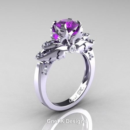 Classic-Angel-14K-White-Gold-1-Ct-Amethyst-Diamond-Solitaire-Engagement-RIng-R482-WGDAM-P