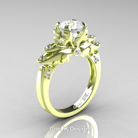 Classic-Angel-18K-Green-Gold-1-Ct-White-Sapphire-Diamond-Solitaire-Engagement-RIng-R482-18KGGDWS-P