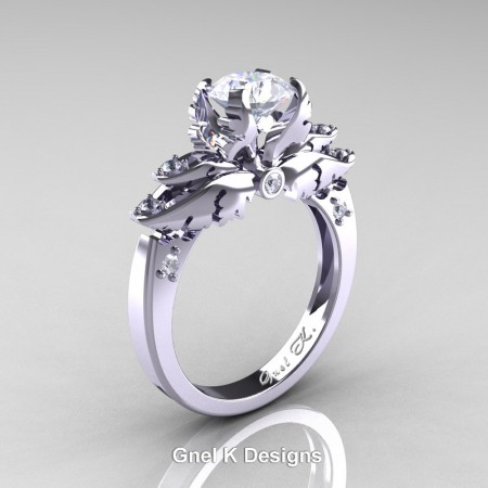 Classic-Angel-950-Platinum-1-Ct-White-Sapphire-Diamond-Solitaire-Engagement-RIng-R482-PLATDWS-P