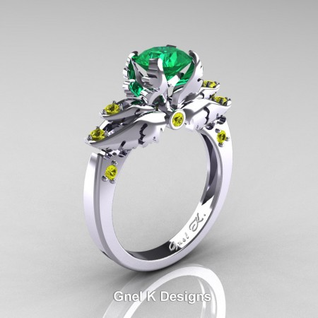 Classic-Angel-White-Gold-1-Ct-Emerald-Yellow-Sapphire-Solitaire-Engagement-RIng-R482-14KWGYSEM-P