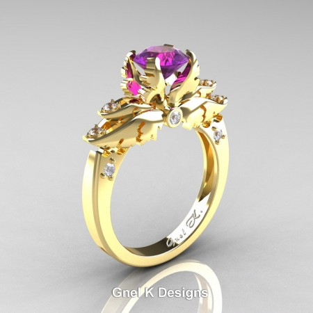 Classic-Angel-Yellow-Gold-1-Ct-Amethyst-Diamond-Solitaire-Engagement-RIng-R482-YGDAM-P