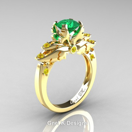Classic-Angel-Yellow-Gold-1-Ct-Emerald-Yellow-Sapphire-Solitaire-Engagement-RIng-R482-14KYGYSEM-P