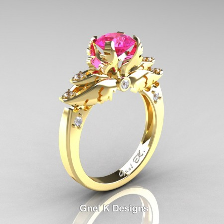 Classic-Angel-Yellow-Gold-1-Ct-Pink-Sapphire-Diamond-Solitaire-Engagement-RIng-R482-YGDPS-P