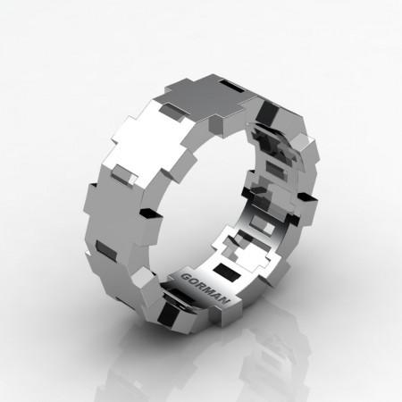 Gorman-Designs-Mens-Modern-14K-White-Gold-Wedding-Band-G1175-14KWG-P