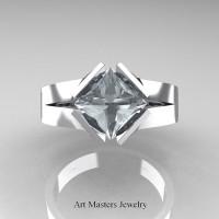 Neomodern 950 Platinum 1.5 CT Princess Engagement Ring Setting R389-PLAT