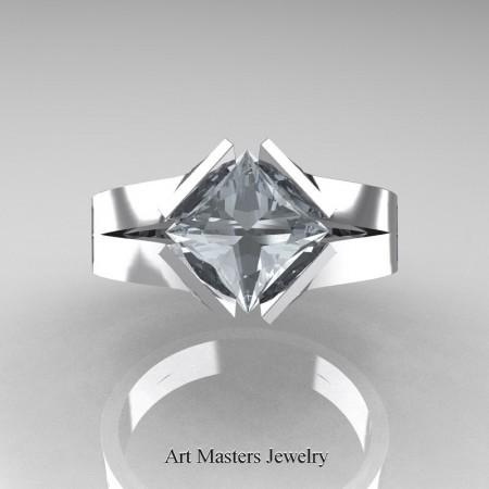 Neomodern-14K-White-Gold-1-5-Carat-Princess-Diamond-Engagement-Ring-R389-14KWGD-T