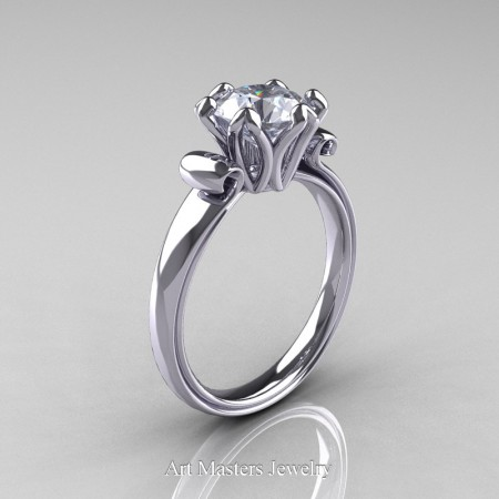 Antique-Platinum-White-Sapphire-Solitaire-Engagement-Ring-AR127-PLATWS-P