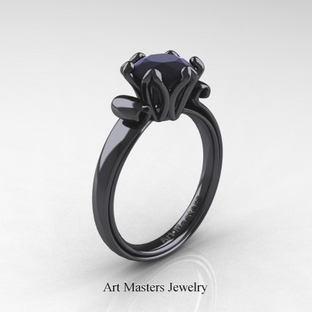 Art-Masters-Classic-14K-Black-Gold-1-5-Ct-Black-Diamond-Solitaire-Engagement-Ring-AR127-14KBGBD-P