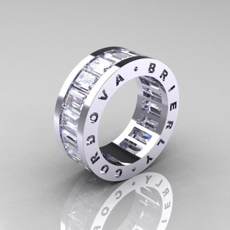 Cordova-Brierly-Mens-Modern-14K-White-Gold-White-Sapphire-Channel-Cluster-Infinity-Wedding-Band-R174-14KWGWS-P