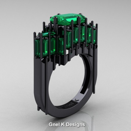 Amazon-Modern-Gothic-14K-Black-Gold-Emerald-and-Baguette-Emerald-Cathedral-Wedding-Ring-R424-14KBGEM-P