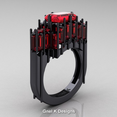 Amazon-Modern-Gothic-14K-Black-Gold-Emerald-and-Baguette-Rubies-Cathedral-Wedding-Ring-R424-14KBGR-P