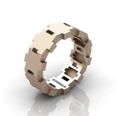 Gorman-Stellar-Mens-Modern-Sandblast-14K-Rose-Gold-Wedding-Band-G1175-14KRGS-P