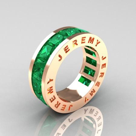 Jeremy-Modern-14K-Rose-Gold-Princess-Emerald-Channel-Cluster-Mens-Wedding-Band-R374M-14KRGEM-P