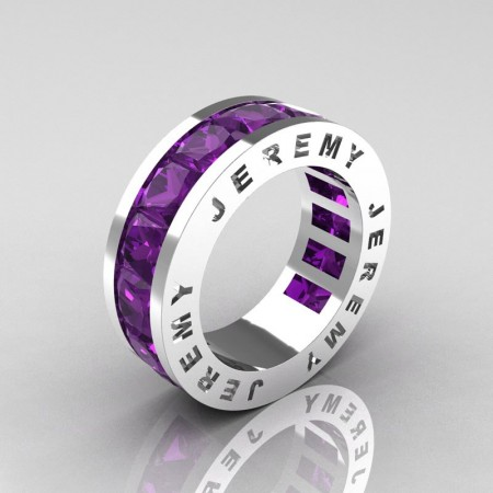 Jeremy-Modern-14K-White-Gold-8-0-Ct-Princess-Amethyst-Channel-Cluster-Mens-Wedding-Band-R374M-14KWGAM-P