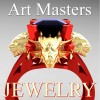 Victorian 14K Red and Yellow Gold 3.0 Ct Asscher Cut Black Sapphire Dragon Engagement Ring R865-14KREYGBLS