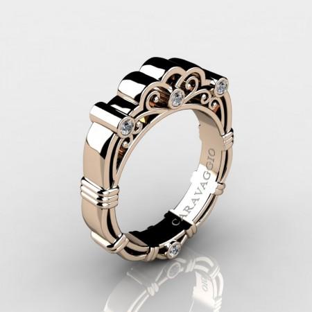 Art-Masters-Caravaggio-Mens-14K-Rose-Gold-Diamond-Wedding-Band-R623M-14KRGD-P