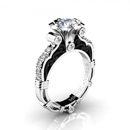 Art-Masters-Michelangelo-14K-Two-Tone-White-Gold-1-Carat-White-Sapphire-Diamond-Engagement-Ring-R723-14KWBGDWS-P