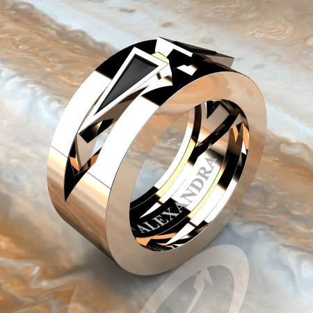 Alexandra-Jewelry-Mens-Avant-Garde-14K-Rose-Gold-Triangle-Black-Diamond-Apollo-Wedding-Ring-A1011-14KRGBD-P2