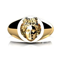 Apollo Mens 24K Yellow Gold Ring R2402-24KYG