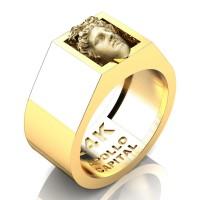 Apollo Mens 24K Yellow Gold Ring R2400-24KYGGS