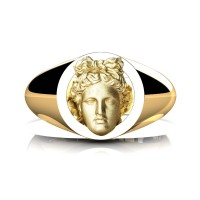Apollo Mens 24K Yellow Gold Ring R2402-24KYGGS