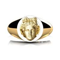 Apollo Mens 24K Yellow Gold Ring R2402-24KYGGS