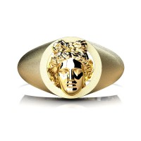 Apollo Mens 24K Yellow Gold Ring R2402-24KYGSG