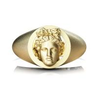 Apollo Mens Matte 24K Yellow Gold Ring R2402-24KYGSS