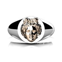 Apollo Mens 950 Platinum 14K Rose Gold Ring R952-PLAT14KRG