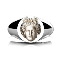 Apollo Mens 950 Platinum 14K Rose Gold Ring R952-PLAT14KRGS