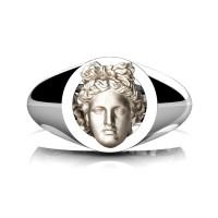 Apollo Mens 950 Platinum 14K Rose Gold Ring R952-PLAT14KRGS
