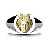 Apollo Mens 950 Platinum 24K Gold Ring R952-PLAT24KS