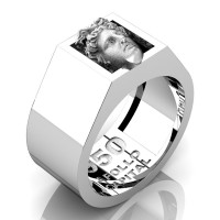 Apollo Mens 950 Platinum Ring R950-PLATGS