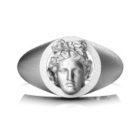 Apollo Mens Matte 950 Platinum Ring R952-PLATSS