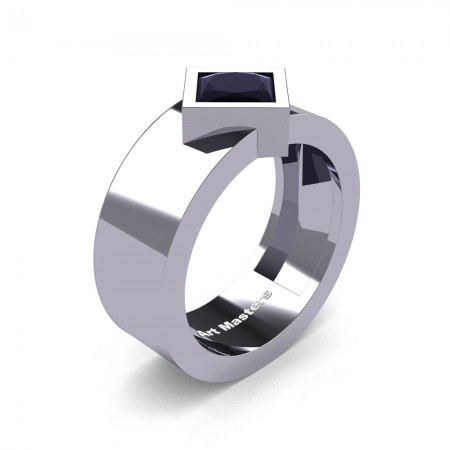 Mens-Modern-14K-White-Gold-1-5-Ct-Princess-Black-Moissanite-Wedding-Ring-R39NP-14KWGBMO-P