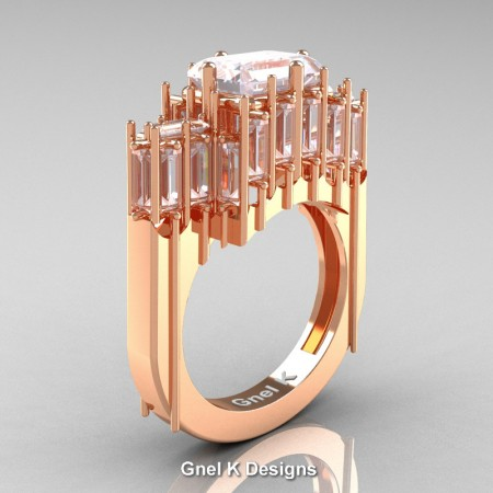 Avant-Garde-14K-Yellow-Gold-Emerald-and-Baguette-White-Sapphire-Cathedral-Wedding-Ring-R424-14KYGWS-P3