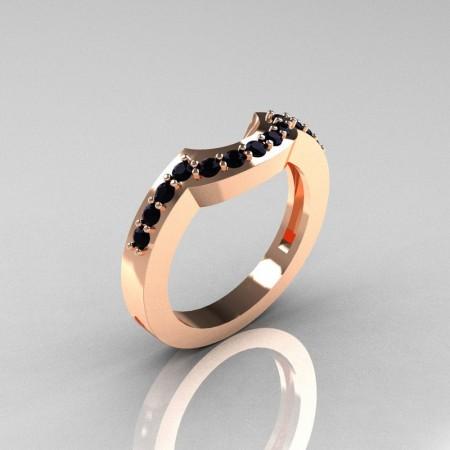 Classic-14K-Rose-Gold-Black-Diamond-Wedding-Band-R301B-14KRGBD