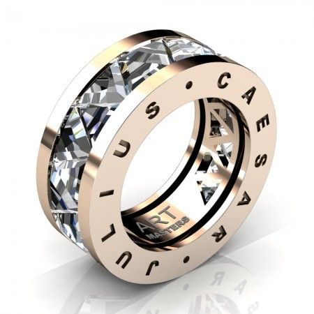 Caesars-Collection-Mens-Modern-14K-Rose-Gold-Triangle-White-Sapphire-Channel-Cluster-Wedding-Band-R777KS-14KRGWS
