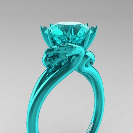 Art-Masters-Avant-Garde-14K-Cyan-Gold-3-Carat-Blue-Diamond-Dragon-Engagement-Ring-R601-14KCGBLD-P