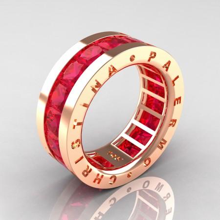Christina-Palermo-Mens-Modern-14K-Rose-Gold-6-0-Ct-Princess-Rose-Ruby-Channel-Cluster-Wedding-Band-R354M-14KRGRR-P