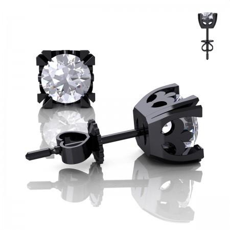 Modern-Vintage-14K-Black-Gold-1-0-Carat-White-Sapphire-French-Stud-Earrings-E102-14KBGWS-P