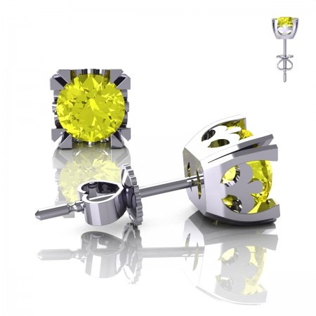 Modern-Vintage-14K-White-Gold-1-2-3-Carat-Yellow-Sapphire-French-Stud-Earrings-E102-14KWGYS-Art-Masters-Jewelry