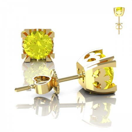 Modern-Vintage-14K-Yellow-Gold-1-2-3-Carat-Yellow-Sapphire-French-Stud-Earrings-E102-14KYGYS-Art-Masters-Jewelry