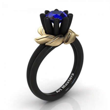 Nature-Inspired-14K-Black-Yellow-Gold-1-0-Ct-Blue-Sapphire-Arpine-Leaf-and-Vine-Engagement-Ring-R440-14KBYGBS-P220