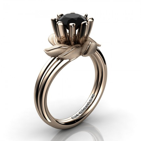 Nature-Inspired-14K-Rose-Gold-1-0-Ct-Black-Diamond-Leaf-and-Vine-Engagement-Ring-R440-14KRGSBD-P2