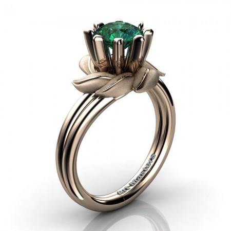 Nature-Inspired-14K-Rose-Gold-1-0-Ct-Emerald-Leaf-and-Vine-Engagement-Ring-R440-14KRGSEM-P20