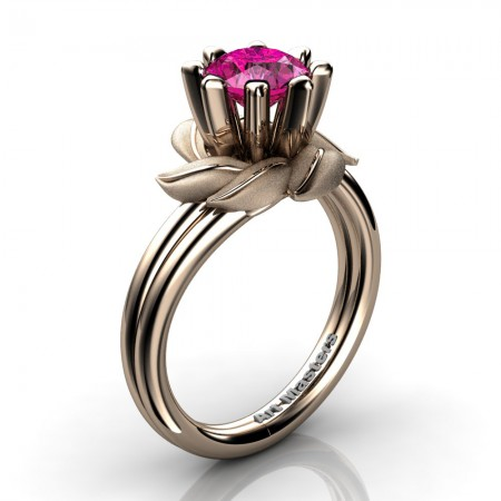 Nature-Inspired-14K-Rose-Gold-1-0-Ct-Pink-Sapphire-Leaf-and-Vine-Engagement-Ring-R440-14KRGSPS-P5