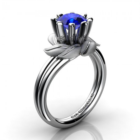 Nature-Inspired-14K-White-Gold-1-0-Ct-Blue-Sapphire-Leaf-and-Vine-Engagement-Ring-R440-14KWGSBS-P20